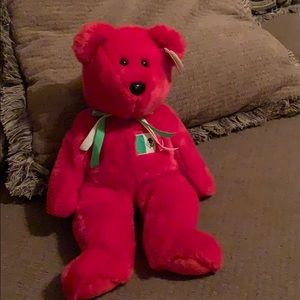 "Ty Beanie buddy ""Osito"" red"